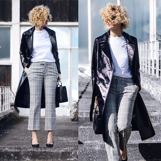 Renia - Topshop T Shirt, Zara Trousers - Vinyl Coat Take 2