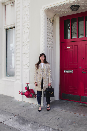 Gemini Tauberge - Tory Burch Heels - Red Door