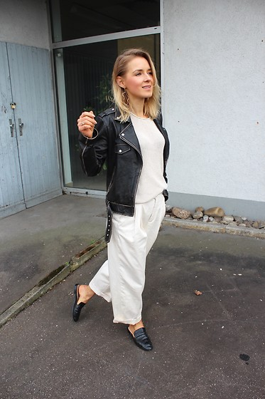 Anna Borisovna - Zara Jacket, Zara Pants, Mango Shoes - Black & White on www.annaborisovna.de