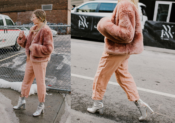 Payton Sartain - Somedays Lovin' Coat, Free People Jumpsuit, Urban Outfitters Booties - One Tone
