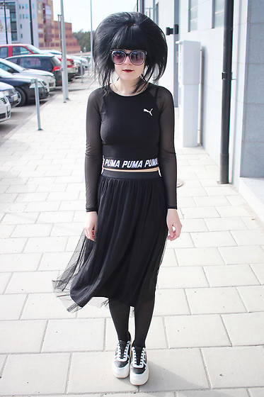 Panda . - Asos Sunglasses, Puma Top, Zara Skirt, Karl Lagerfeld Shoes - PUMA PRINCESS