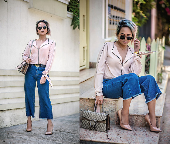 Nilu Yuleena Thapa - Forever 21 Wover Shirt In Beige, Gucci Dionysus, Gucci Double G Belt - Summer Plans