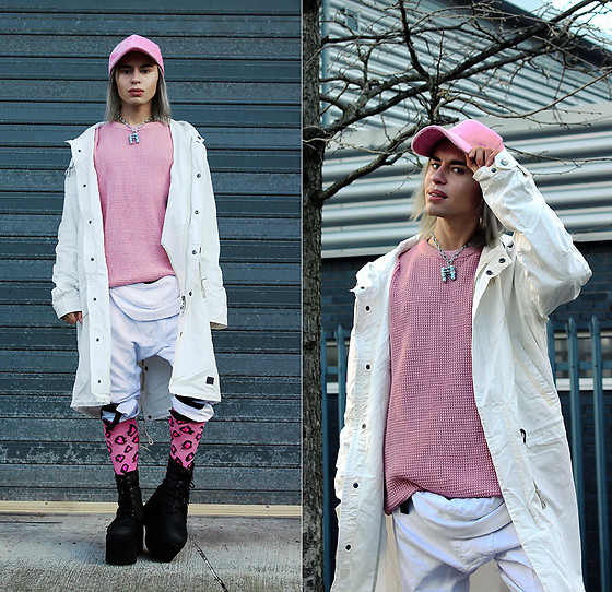 Milex X - Sammydress Hat, Brixtol Jacket, Brixtol Sweater, Long Clothing Pants, Metal Trocks Necklace, Samson Hosiery Socks, Buffalo Platforms - BRIXTOL FUN