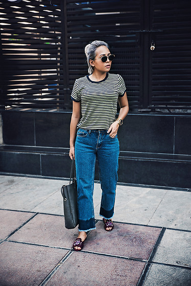Nilu Yuleena Thapa - Forever 21 Ankle Jeans, Charles And Keith Flat Mules - Straight Fit