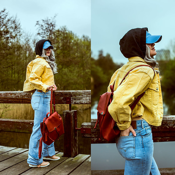 Rachel Ecclestone - Zaful Yellow From (Don't Forget To Use Promo Code: Lookbook!), Levi's® Flared Levi's, Zaful Red Bag From (Don't Forget To Use Promo Code: Lookbook!), Reebok Classics - Urban traveller