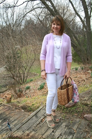 Amy Stachowiak Johnson - Steve Madden Taupe Wedge Sandals - An Easter Outfit