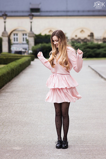 Juliette Jakubowska - Dress - PINK RUFFLE DRESS BY BELETTE