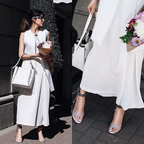 Amber - Zara Purse/ Vest/ Skirt - All white Easter look