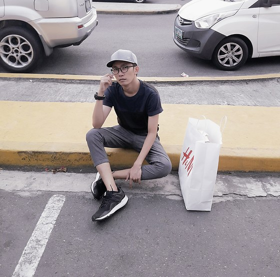 John Castillo - Penshoppe Cap, Uniqlo Tshirt, G Shock Watch, Penshoppe Cropped Pants, Adidas Trainers - Out on the Streets