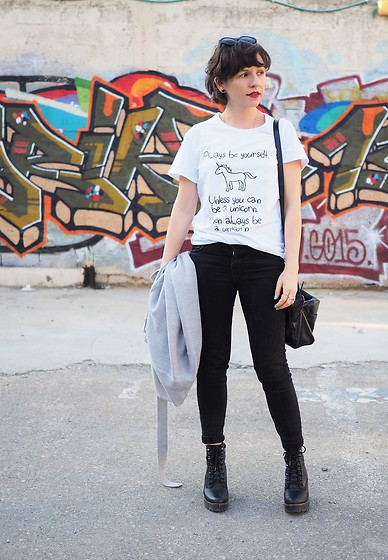 Fashionella ♥ - Shein White T Shirt, Zara Black Jeans - Always Be a Unicorn