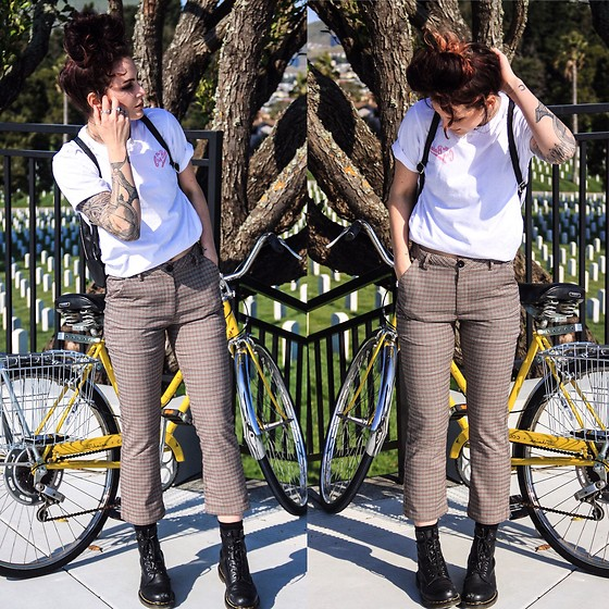 Wawa Baby - Dr. Martens Black Boots, Unif Dawson Pant, Pandco Shirt - Bicycle Race - Queen