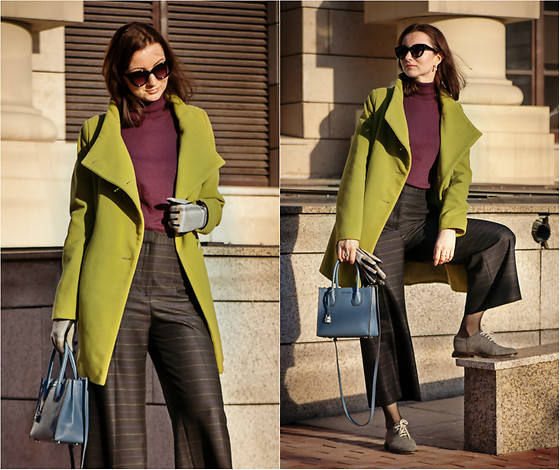 Arina V. - Zara Culottes, Michael Kors Bag, Mango Turtleneck - Greenery