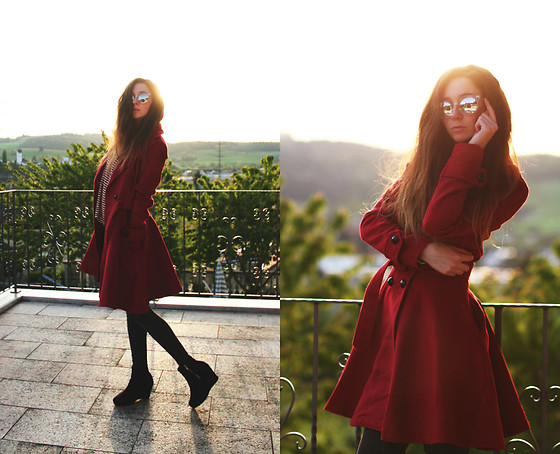 Francesca S - Fashionmia Coat - Red