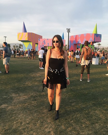 Taylor Smith - Are You Am I Bodysuit, Revolve Skirt, Modern Vice Boots - Coachella Style | Weekend One