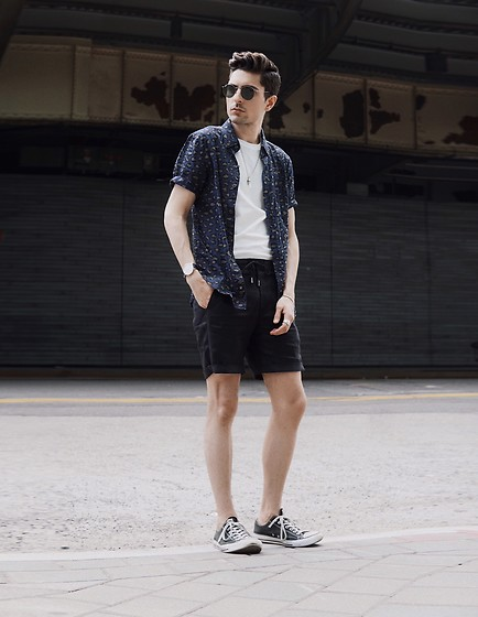 Phil Valles - Zanerobe Shirt, Native Youth Shorts, Converse Shoes, Ray Ban Sunglasses - Spring has Sprung