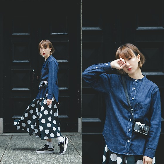 Crystii Lin -  - DENIM & POLKA DOT