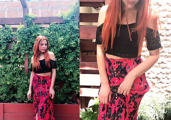 She is Magique Oh my Dior - Free People Maxi Skirt, Shein Boho Top - Mermaid Vibes
