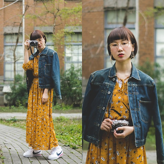Crystii Lin -  - Denim & floral