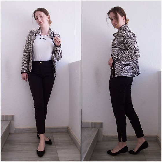 Ivana Braer - More&More Shirt, Oasis Pants, Vintage Cardigan, Massimo Dutti Flats - Simply Chic