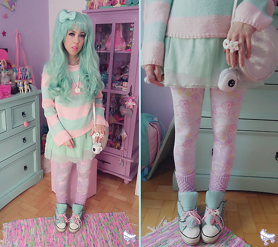 Luly Pastel Cubes - Kawaii Pony, Renner Skirt, Ebay Wings - Minty