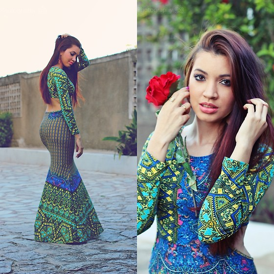 Suene Fernandes -  - Mermaid dress - Ethnic print ?