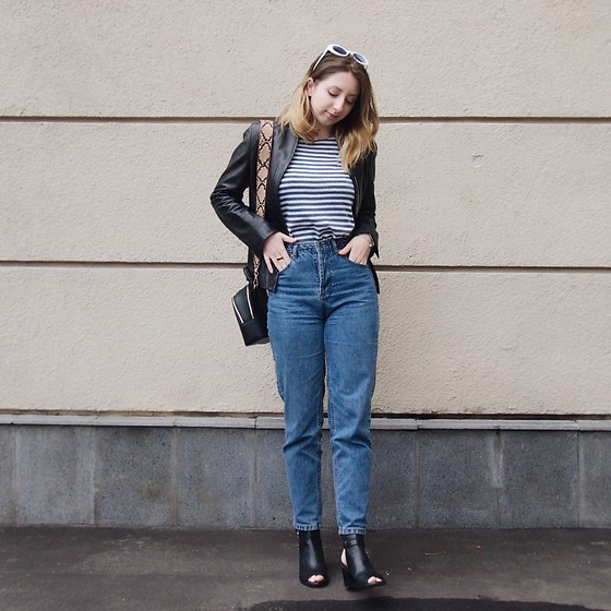 Ivana Braer - Acne Studios Sunglasses, Mango Bag, Episode Jacket, Vintage Long Sleeve, Pull & Bear Jeans, Topshop Shoes - Everyday French Gal