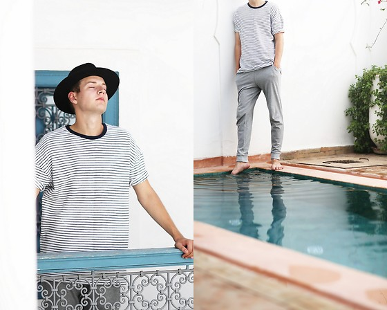 Patrick Pankalla - H&M Fedora Hat, Asos Sweatpants, Asos T Shirt - Mornings in Marrakech
