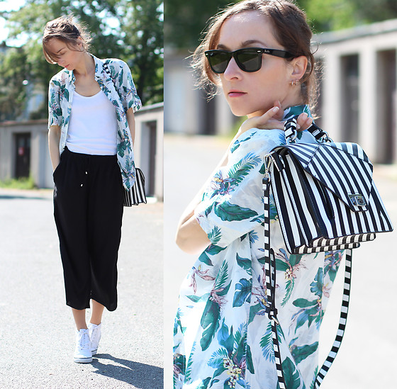 Iva K - H&M Shirt, Zara Bag, Ray Ban Sunglasses - Men's shirt