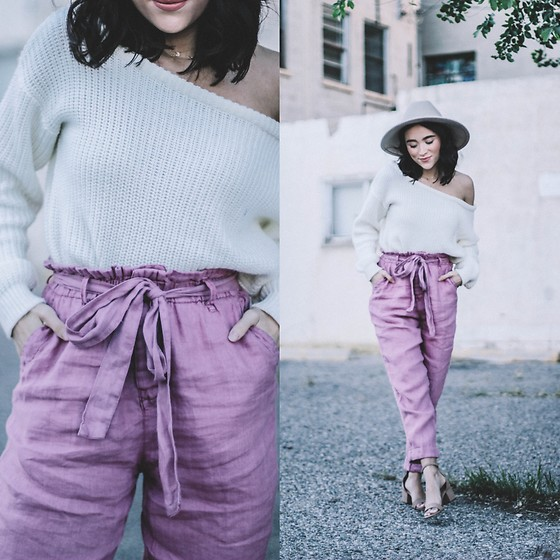 Karissa Marie - Free People Trousers - Gotta Love PaperBag Trousers