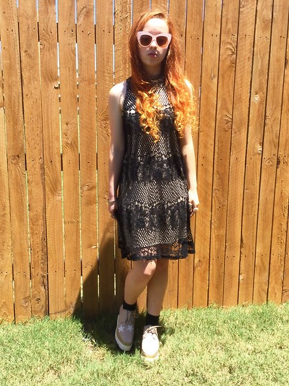 Emily Elizabeth - Target Dress, Stella Mccartney Platform Oxfords, Asos Sunglasses - Thrifted designer style