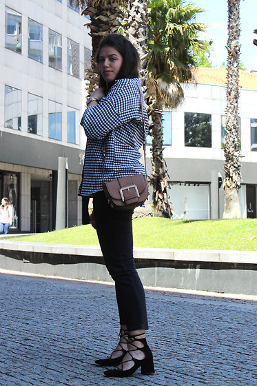 Joana Sá - Fossil Watch, Primark Vichy Shirt, Parfois Bag, Zara Jeans, Zara Shoes - Vichy