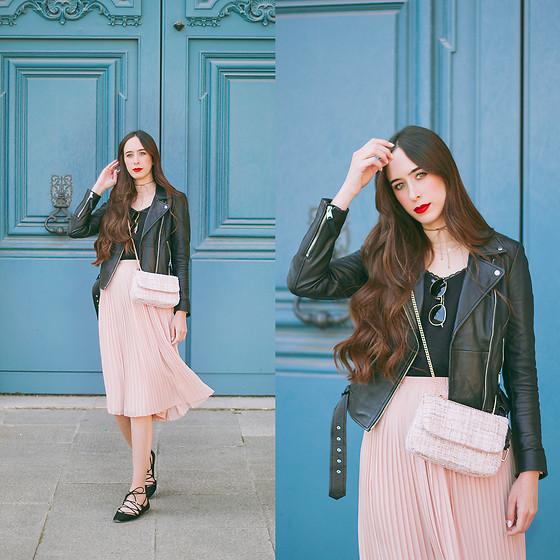 María Rubio - Zara Jacket, Sfera Bag, H&M Skirt, Zara Shoes - P a r i s