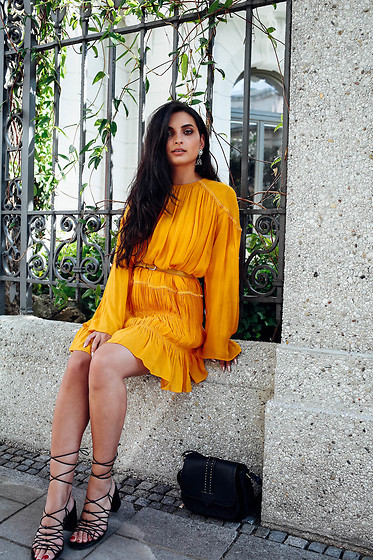 Merna Mariella -  - Mustard boho dress