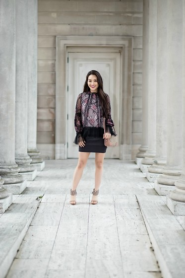 Kimberly Kong - Alexis Lace Top, Bcbg Ombre Bandage Skirt - My Obsession With Alexis Continues