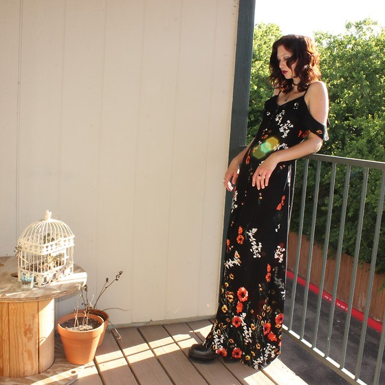 "Michelle Blue - Target Floral Maxi Dress - ""Sad, Small, Sweet, So Delicate"""