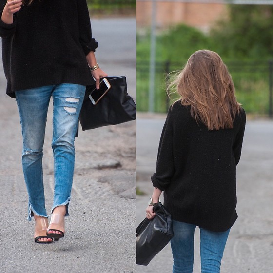 Alexandria Deanne - Zara Denim, H&M Sweater, Zara Bag, Forever 21 Shoes - Clear Love of Shoes