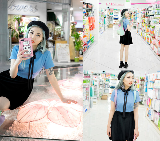 Essy Noir - Valfre Eye Rolling Forever Phone Case, Witch Worldwide Go Away Earrings, Valfre Regina Dress, Sugar Thrills Pastel Backpack, Zaful Oxfords - Go Away