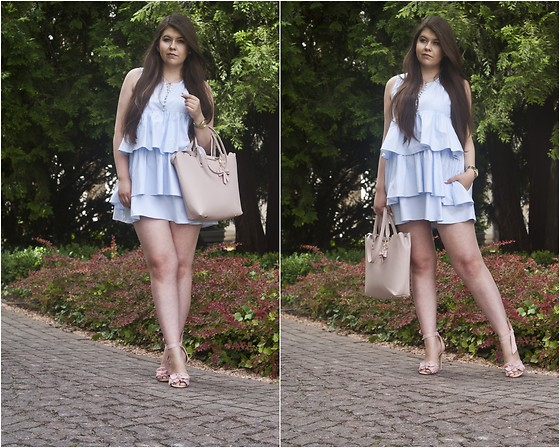 Feather P - Zara Dress, Mohito Bag - Zara Ruffle Dress