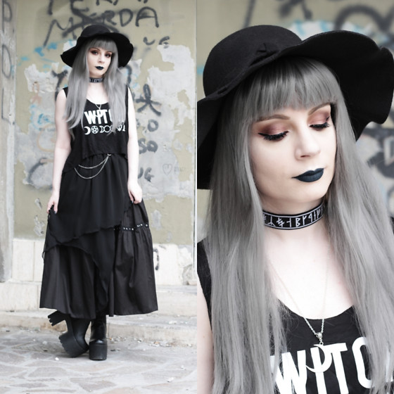 Federica D - Romwe Black Hat - Witch