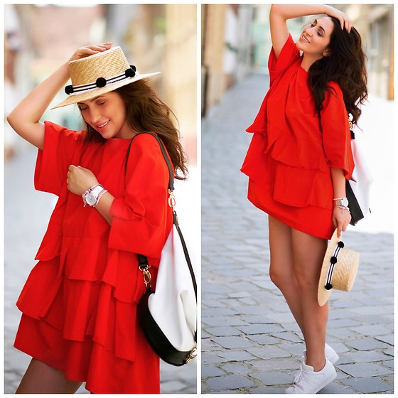 Andreea Manole -  - Red dress