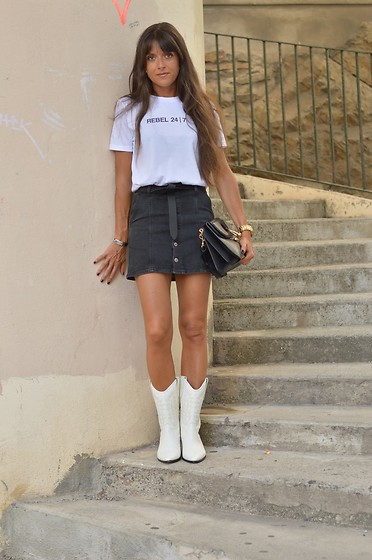 Jeanne -  - Ironic Lux Tee and Isabel Marant Dallin Cowboy