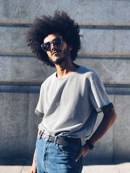 Marco Moura - Zara T Shirt, Pull & Bear Sunglasses, H&M Jeans, Daniela Barros Belt, Asos Watch - Sunny day