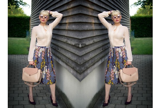 Maria R - Zaful Midi Skirt - In the Middle of July
