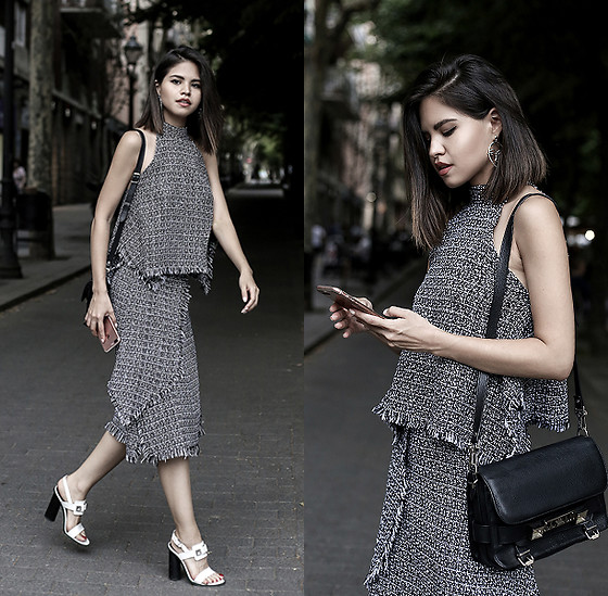 Adriana Gastélum - Proenza Schouler Ps11 Bag, Proenza Schouler Sandals, More Details And Outfits On - A tweed set