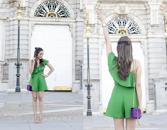 Besugarandspice FV - Saint Laurent Bag, Mango Jumpsuit, Zara Heels - Green Jumpsuit