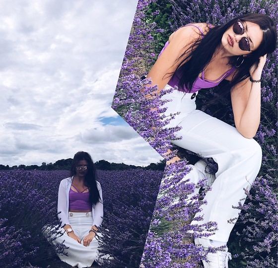 Anna-Maria - River Island Top, Zara Trousers, Adidas Shoes, Bershka Jacket - Lavender Field ?