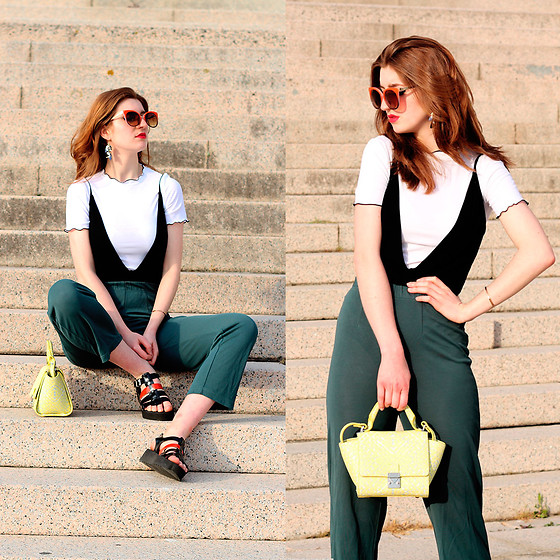 Martina L. - Zara White Top, Zara Bag - LAYERING