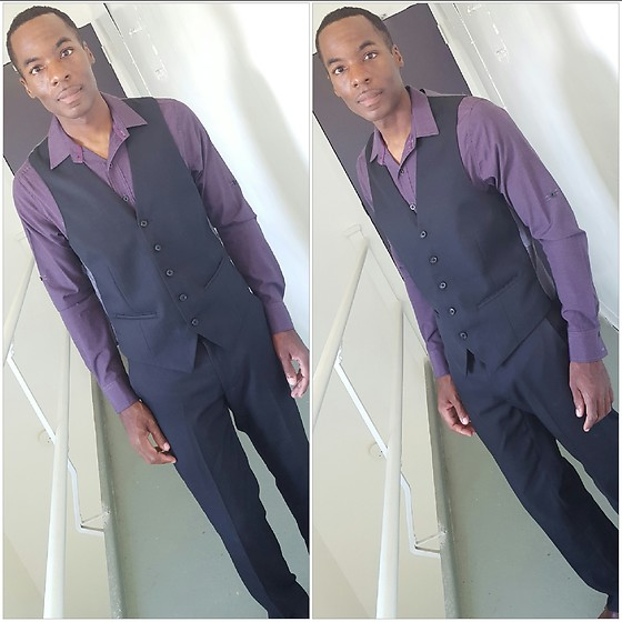Thomas G - Sovereign Code Slim Fit, Claiborne Vest, Van Heusen Dress Pants, Instagram - Vest + Dress pants