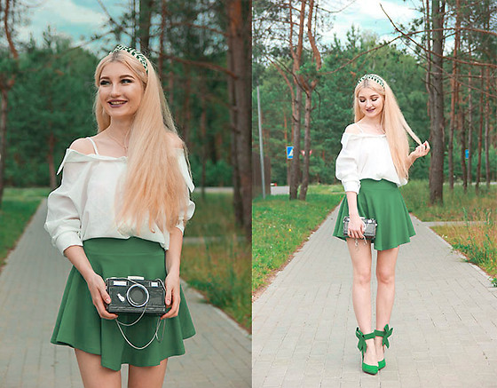 ♡Anita Kurkach♡ - Shein Blouse, Asos Green Skirt - BACK TO SCHOOL!