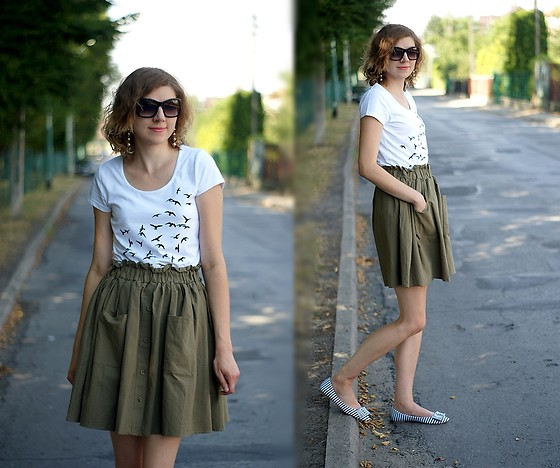 Kamila Krawczyk - Bonprix T Shirt, Romwe Skirt, Bonprix Shoes - Wish I could fly